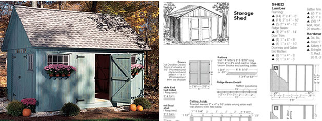 Amish shed easy shed plans woodworking for Design and build your own shed